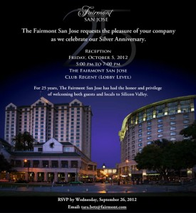 The Fairmont San Jose 25 Year Celebration
