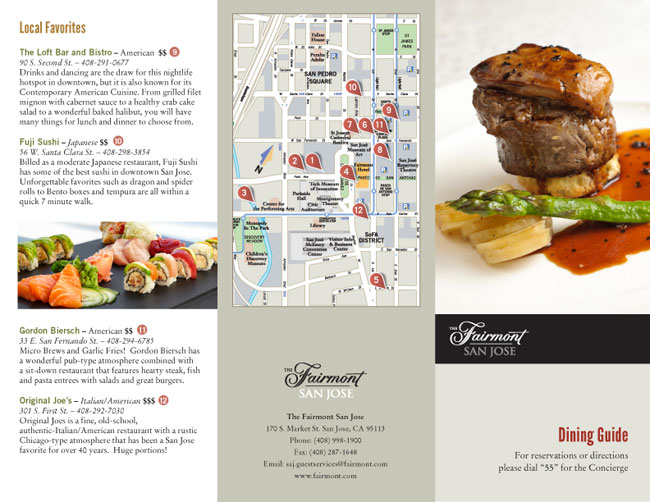 All elements design dining guide for Restaurant guide